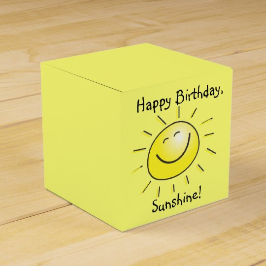 Happy Birthday, Sunshine! Favour Box