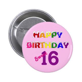 Happy Birthday Sweet 16 Pin