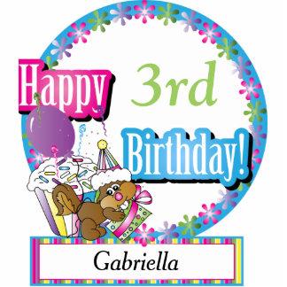 Happy Birthday Sweet Cupcake Squirrel   DIY Text Standing Photo Sculpture