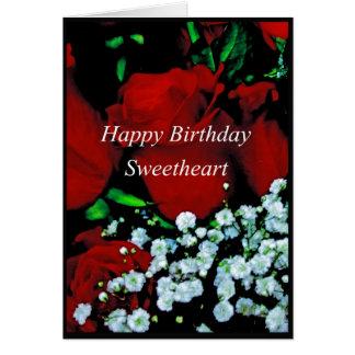 Happy Birthday Sweetheart Greeting Card