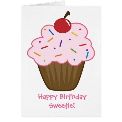 Happy Birthday Sweetie! - Card