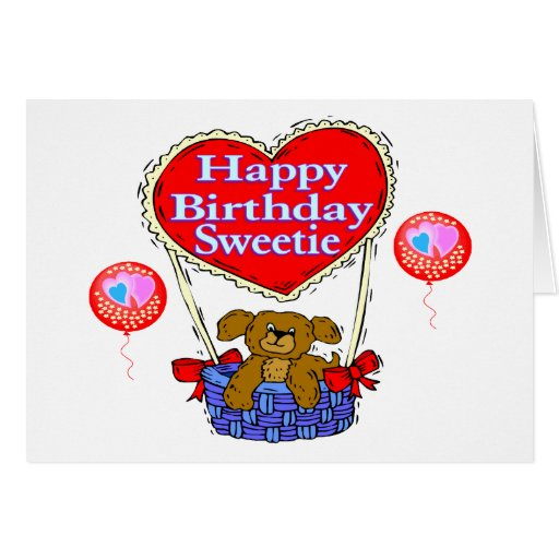 Happy Birthday Sweetie Puppy Greeting Cards