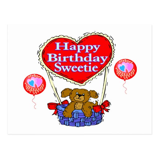 Happy Birthday Sweetie Puppy Post Cards