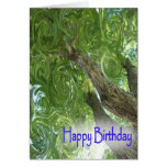 Happy Birthday-swirling leaves Cards
