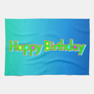 Happy Birthday Tea Towel