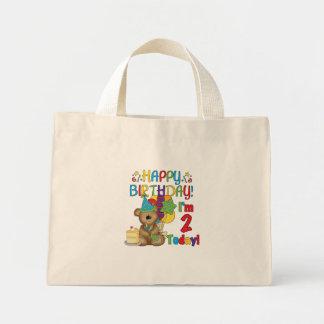 Happy Birthday Teddy Bear 2nd Tshirts and Gifts Mini Tote Bag