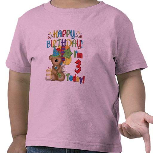 Happy Birthday Teddy Bear 3rd Tshirts and Gifts