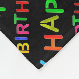happy-birthday-text fleece blanket