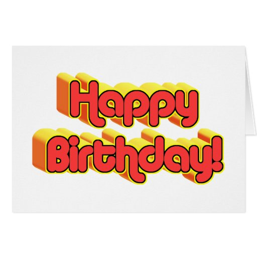 Happy Birthday Text Greeting Card