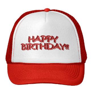 Happy Birthday Text - Red Cap