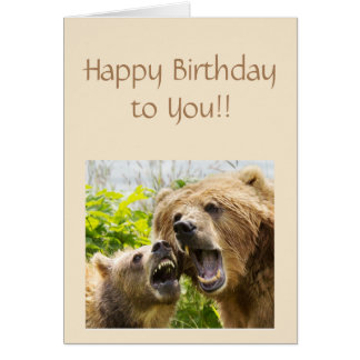 Happy Birthday That Bears Repeating Fun Animal Card