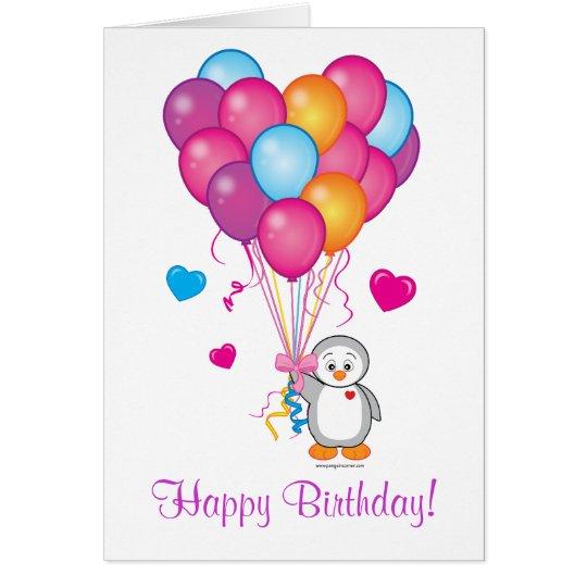 Happy Birthday: Thinking of You Penguin Card