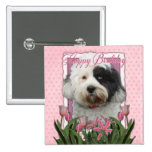 Happy Birthday - Tibetan Terrier 15 Cm Square Badge