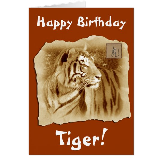 Happy Birthday Tiger!-Chinese Astrology Card