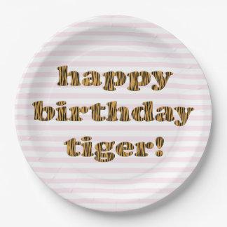 Happy birthday tiger! Fun Tiger Print Paper Plate