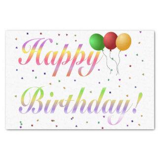 "Happy Birthday Tissue Paper 10"" X 15"" Tissue Paper"