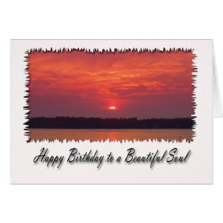 Happy Birthday to a Beautiful Soul, Sunset Card