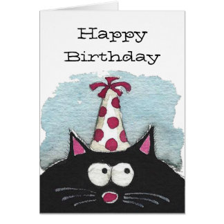 Happy Birthday to a cat lover Greeting Card