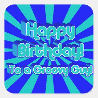 Happy Birthday to a Groovy Guy Sticker