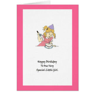 Happy Birthday To A Very Special Little Girl Greeting Card