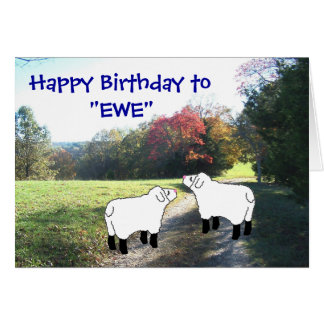 "Happy Birthday to ""EWE""-customize any occasion Card"
