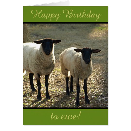 Happy Birthday to Ewe From the Flock! Customisable