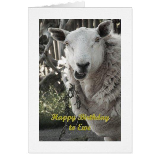 Happy Birthday to Ewe Greeting Card
