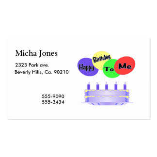 Happy Birthday To Me Cake & Balloons Pack Of Standard Business Cards