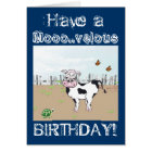 Happy Birthday to MOO! - Cow Customisable Card