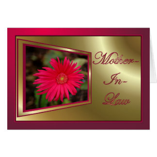 Happy Birthday to mother in law with flowers Cards