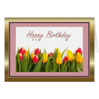 Happy Birthday to mother in law with flowers Greeting Cards
