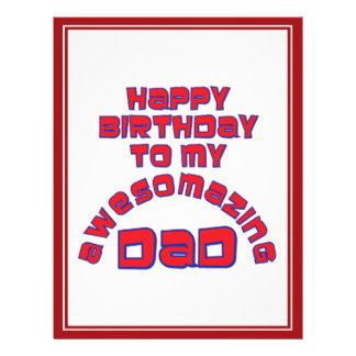 Happy Birthday to my AWESOMAZING DAD! 21.5 Cm X 28 Cm Flyer