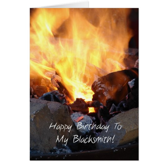 Happy Birthday to my Blacksmith Card