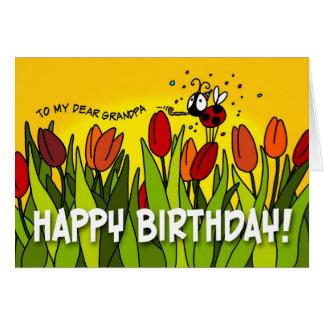 Happy Birthday - To My Dear Grandpa Greeting Card