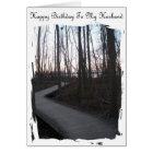 Happy Birthday To My Husband - Life Journey Card