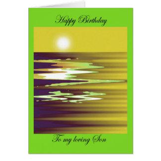 happy birthday to my loving Son brenda cheason Greeting Card