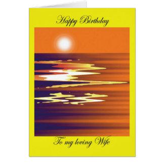 happy birthday to my loving wife brenda cheason greeting card