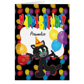 Happy Birthday to One Cool Cat Greeting Card
