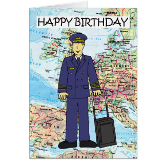 Happy Birthday to Pilot Greeting Card