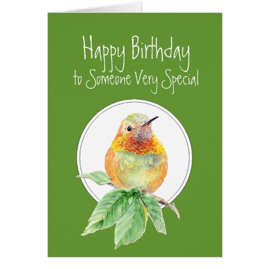 Happy Birthday to Someone Special, Hummingbird Card