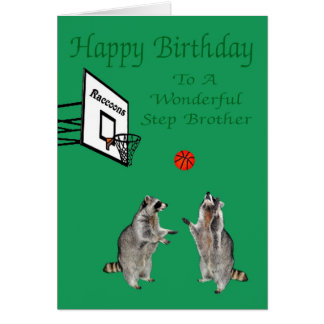 Happy Birthday To Step Brother Greeting Card