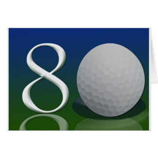 Happy Birthday to the 80 year old golf nut Greeting Card
