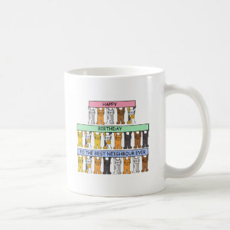 Happy Birthday to the best neighbour ever. Basic White Mug