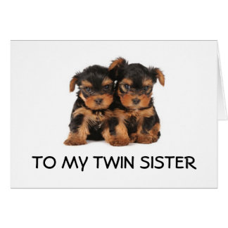 "HAPPY BIRTHDAY TO THE ""BEST TWIN SISTER EVER"" MINE GREETING CARD"
