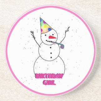 Happy Birthday to the Birthday Girl Coasters