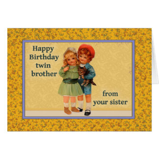twins birthday cards  invitations  zazzle.co.uk, Birthday card