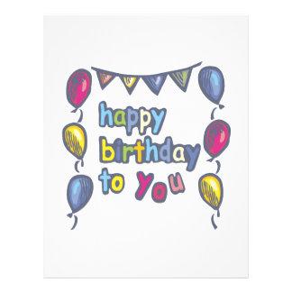 Happy Birthday To You 21.5 Cm X 28 Cm Flyer