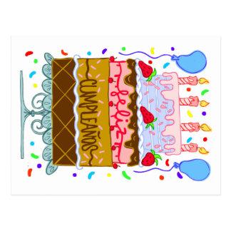 happy birthday to you cake postcards