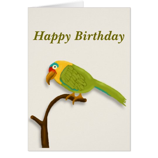 Happy Birthday to you, Colourful Pet Parrot Card