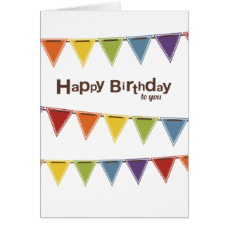 Happy Birthday to you | Rainbow Bunting Card